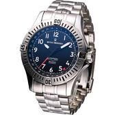 REVUE THOMMEN 梭曼空中霸王 機械腕錶-(16070.2137)黑面鋼帶