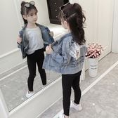牛仔外套 女童牛仔外套春秋韓版兒童洋氣短款夾克女孩秋裝上衣潮衣【小天使】