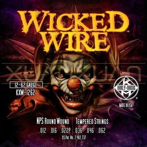 ☆ 唐尼樂器︵☆ Kerly Wicked Wire 系列小丑弦/冰火弦 KXW-1262 (12-62)美製電吉他弦