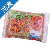 永昇火腿丁混和蔬菜500G/包【愛買冷凍】