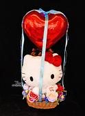 Hello Kitty 45週年絨毛娃娃幸福熱氣球,金莎花束/情人節禮物/婚禮佈置/派對慶生,節慶王【Y347030】