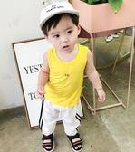 寶寶背心男夏季新款字母舒適無袖打底衫兒童