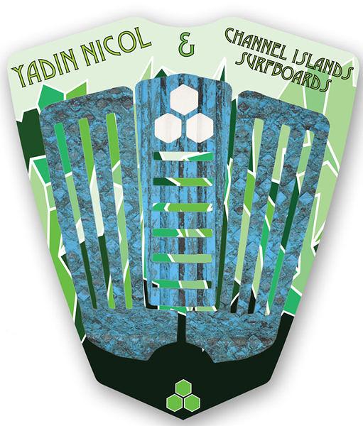 Channel Islands 專業衝浪配件:YADIN NICOL ARCH PAD 三片式防滑墊 / 止滑墊 - (藍迷彩)