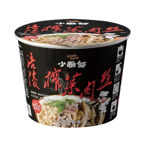 【小廚師】涪陵榨菜肉絲麵 (194g/桶)