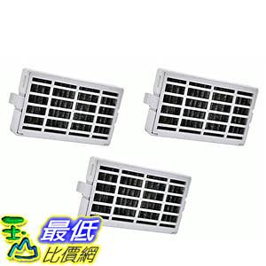 [106美國直購] 3-pack Refrigerator Air Filters fits Whirlpool Air1 Fresh Flow W10311524, 2319308 & W10335147