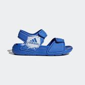 ADIDAS ALTASWIM I [BA9281] 小童 休閒 涼鞋 雨鞋 水鞋 游泳 舒適 排水 穿搭 魔鬼氈 藍白