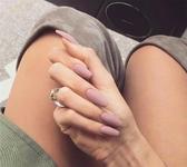 顯白穿戴美甲粉色暗黑假指甲朋克成品