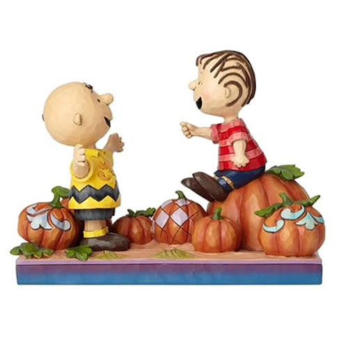 《Enesco精品雕塑》SNOOPY 查理布朗與奈勒斯快樂南瓜園塑像-Pumpkin Patch Pals(Peanuts by Jim Shore)_EN96022