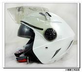 【GP5 232 安全帽 素色 白】雙層鏡片、 免運費