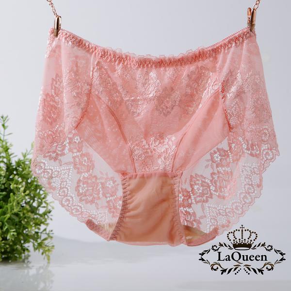 LaQueen 獨家柔軟100%蠶絲小褲(1802 粉橘)