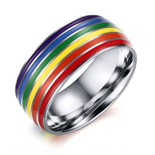 【NF272】Rainbow 戒指 彩虹 同性婚姻多元成家同志旗幟男男女女遊行  彩虹同性飾品