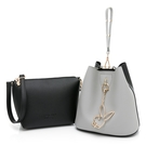 PLAYBOY- 手提包(可做斜背包使用) 拼接子母包系列 -黑色