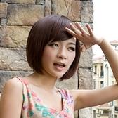 假髮(短髮)-潮流簡約可愛斜瀏海女假髮73ek20【時尚巴黎】