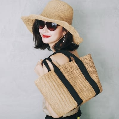 編織包11CC夏季ins旅遊度假海灘包草編包沙灘包編織包休閒斜背手提包 艾維朵