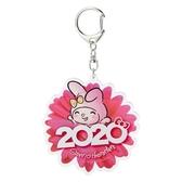 〔小禮堂〕美樂蒂 花朵造型壓克力鑰匙圈《桃》掛飾.鎖圈.2020花漾系列 4901610-16452