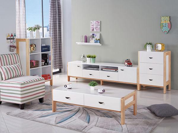 【森可家居】沃利6尺電視櫃 7JX169-3 長櫃 白色 無印北歐風