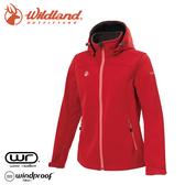 【Wildland 荒野 女 三層貼防風保暖功能外套《紅》】0A72907/夾克/運動外套/抗風透氣