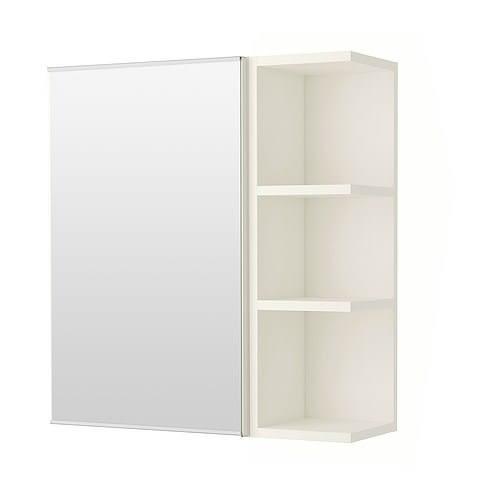 鏡櫃 鏡箱 單門 浴室 寬60*高70*深15cm 半開放式收納 浴室不雜亂 PVC防水發泡板 緩降門片