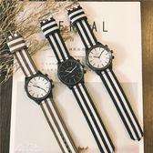 韓版簡約潮流ulzzang復古大錶盤個性潮男女手錶男學生時尚帆布帶『夢娜麗莎精品館』