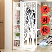 屏風 屏風隔斷客廳玄關櫃歐式現代行動門廳裝飾櫃鏤空雕花櫥窗背景T 1色