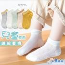 台灣出貨 現貨 兒童網眼船型襪5入一組 童襪 夏季薄款 透氣 網眼短襪 鏤空網眼棉襪