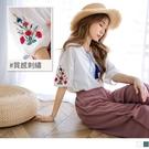 《AB11954》高含棉多彩花朵刺繡綁帶...