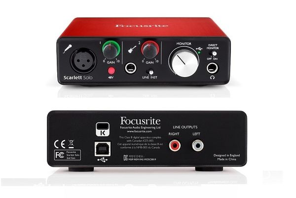 【WowLook】全新 二代 Focusrite Scarlett solo (2nd Gen) 錄音介面卡 USB