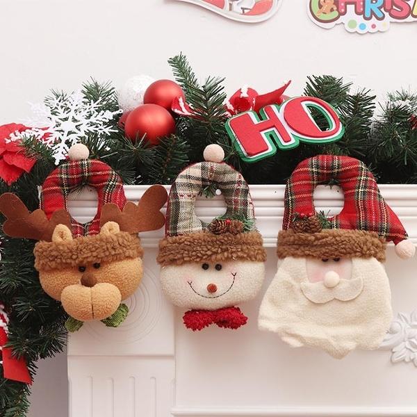韓版聖誕節可愛麋鹿老人雪人卡通布藝門掛商場櫥窗聖誕裝飾品禮品 聖誕節全館免運