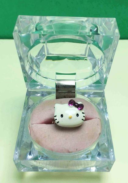 【震撼精品百貨】Hello Kitty 凱蒂貓~造型戒指-紫