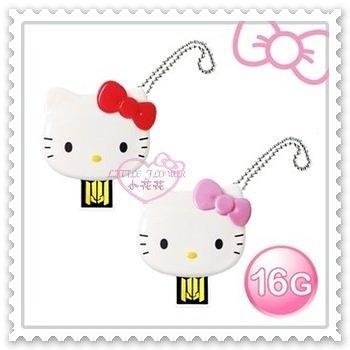 小花花日本精品Hello Kitty 16G隨身碟紅色臉頭 3C週邊/防水防塵/輕巧/隨插即用21079603