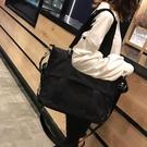 側背包單肩韓國簡約百搭托特包女大容量帆布包防水尼龍網紅大包包聖誕交換禮物