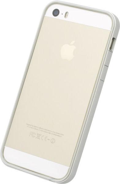 【漢博】POWER SUPPORT iPhone SE/5/5S 專用 Flat Bumper 銀白邊框