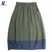 【三折特賣】American Bluedeer - 撞色剪接半裙(特價)  秋冬新款