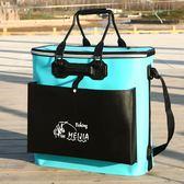 釣魚桶 魚護桶加厚釣魚桶多功能活魚箱裝魚箱折疊防水裝魚桶魚護箱 夢藝家