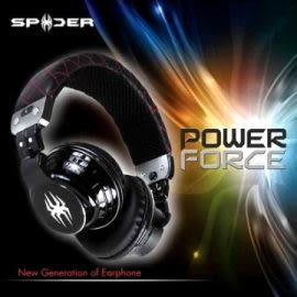 資訊月Spider PowerForce 耳罩式耳機 黑色 專為發燒友設計 感受重低音的震撼2012台北金馬影展指定耳機