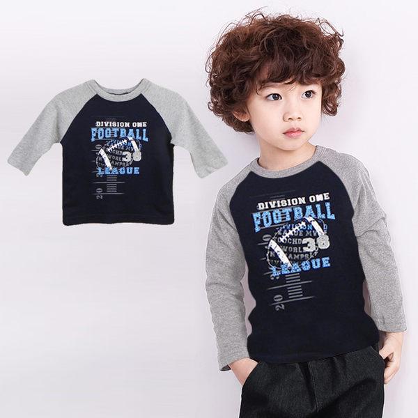 上衣 t恤 長袖 純棉 男童 寶寶 38號橄欖球