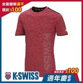 【超取】K-SWISS Mesh Print Logo Tee排汗T恤-男-紅