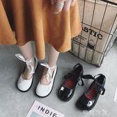 日繫復古娃娃鞋女春季新款淺口平底綁帶小皮鞋百搭軟妹單鞋潮      芊惠衣屋