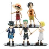 5款海賊王公仔 薩博 艾斯 香吉士 索隆 公仔模型