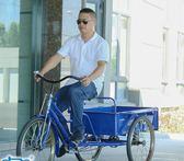0.9~1米車廂成人三輪腳踏車帶貨運拉貨小吃大人力三輪車 萬客居