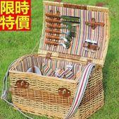 野餐籃 餐具組合-四人份戶外休閒收納郊遊用品68e33[時尚巴黎]