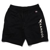KANGOL 短褲 黑 運動褲 抽繩 英國國旗 白LOGO 棉褲 男 (布魯克林) 6021170120