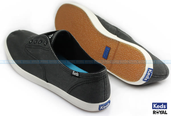 Keds 新竹皇家 CHILLAX CHARCOAL 黑灰 布質 休閒 懶人鞋 女款 NO.I6466