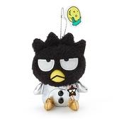 小禮堂 酷企鵝 絨毛吊飾 玩偶吊飾 玩偶鑰匙圈 包包吊飾 (黑 生日宇宙) 4550337-45317