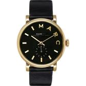 現貨 Marc by Marc Jacobs (MBM1269)黑色真皮錶男女適用手錶