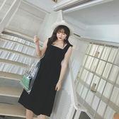 全館85折大碼女裝前后兩穿背帶連身裙新夏款胖mm氣質顯瘦過膝吊帶裙