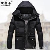 中年爸爸裝冬季棉服中老年人男士加厚款棉衣父親男裝冬裝外套棉襖 卡卡西