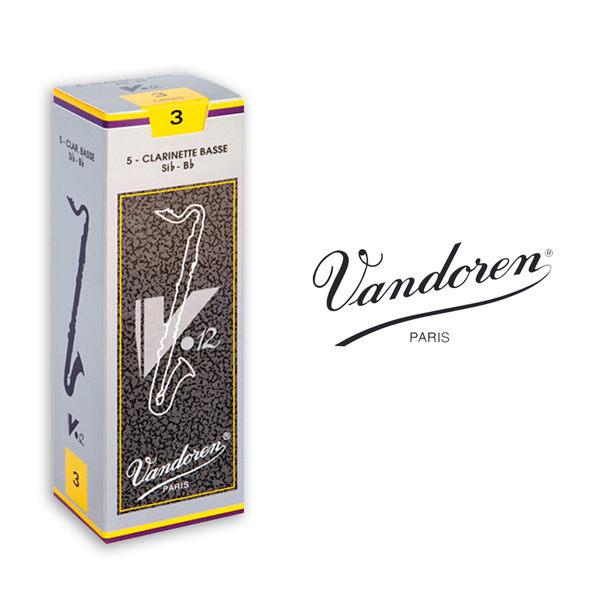 小叮噹的店- 全新 法國 Vandoren BASS V12 豎笛竹片/黑管竹片 銀盒 5片裝 BCL-V12