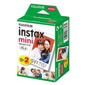 【有效期限 2021/10月 】富士 Fujifilm instax mini 拍立得底片《一盒 20張》白框底片 空白相紙