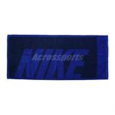 Nike 毛巾 Jacquard Towel 藍 黑 運動毛巾 純棉 盒裝 【PUMP306 N100153949-6MD
